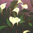 Dream White Lillies by Andrew  Pearson