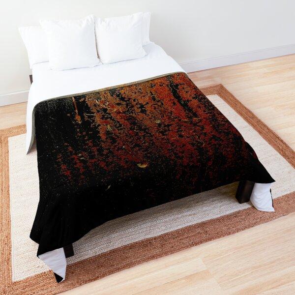 Black Rustic Old Metal Paint Comforter