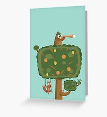 The Owl Tree Greeting Card