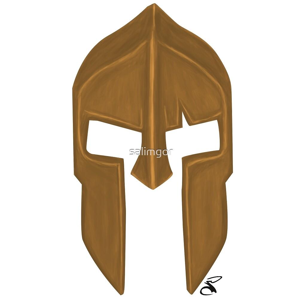 Spartan helmet light bronze by salimgor