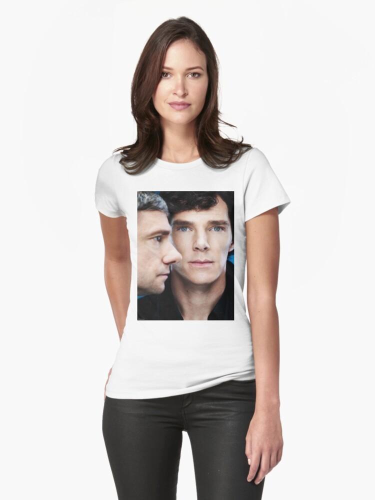 Sherlock and John Womens T-Shirt Front
