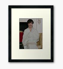 Sherlock in his sheet Framed Print