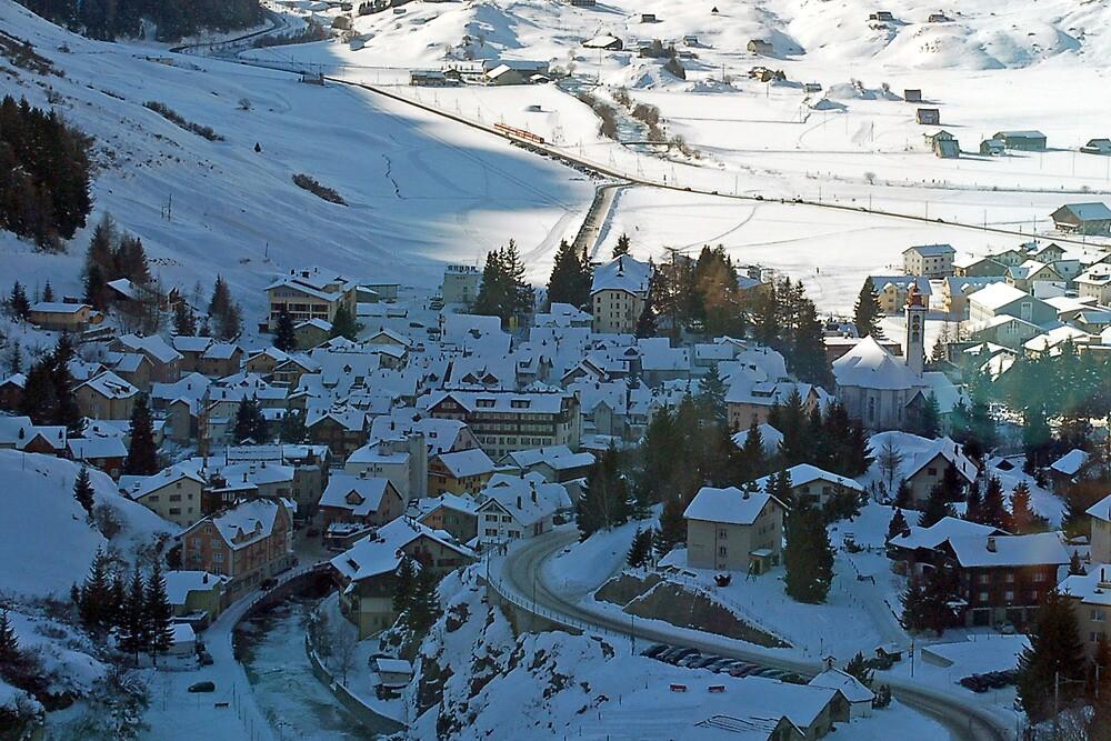 View on Andermatt by Arie Koene