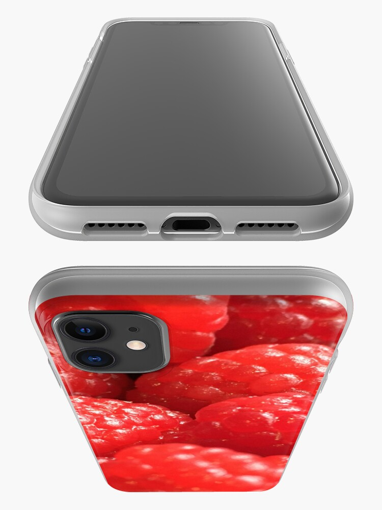 Alternate view of Red Raspberries iPhone Case & Cover