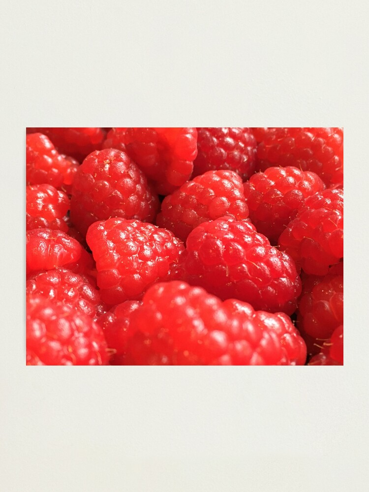 Alternate view of Red Raspberries Photographic Print