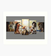 Horse multi Canvas Art Print