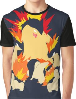 Cyndaquil - Quilava - Typhlosion Graphic T-Shirt