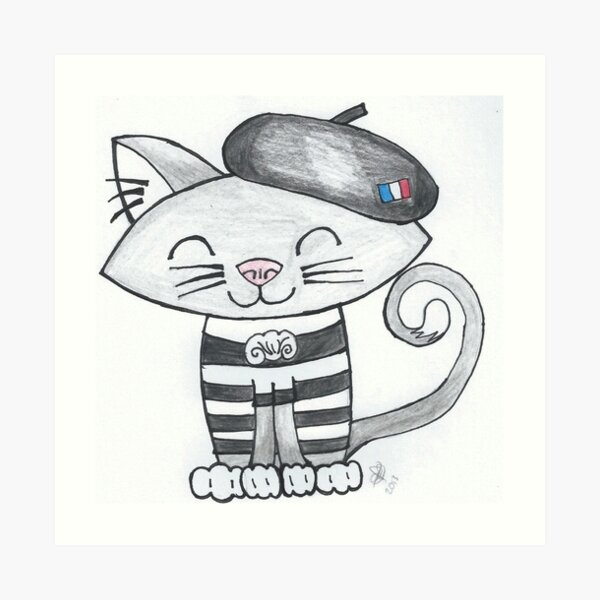 Noemi Le Chat Francais Art Print