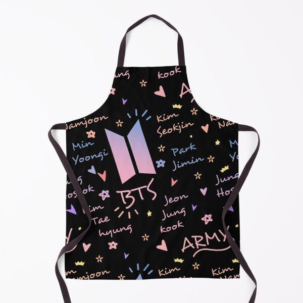BTS x ARMY doodle pattern (dark version) Apron