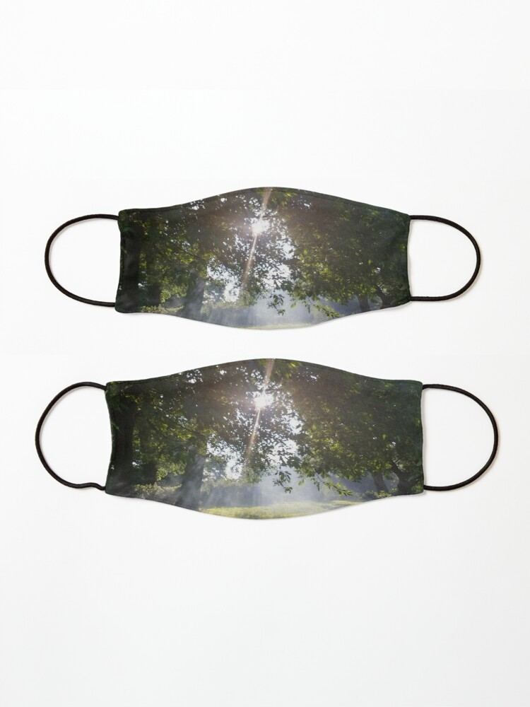 Alternate view of Merch #11 -- Smoky Tree Sun Rays - Landscape Shot (Pearson Park) Mask