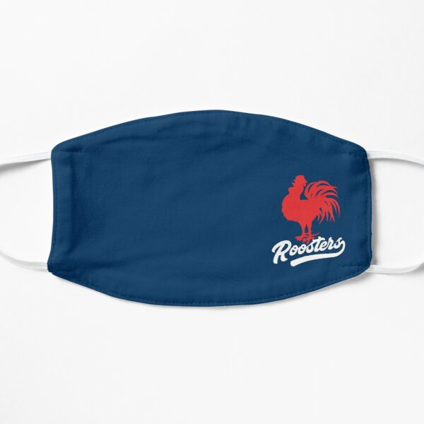Sydney Roosters Mask - Red Cockerel with Tail on Rooster Blue Mask