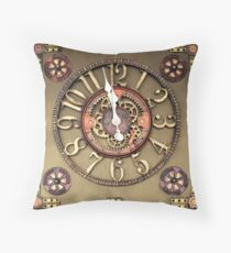 Steampunk Timepiece Throw Pillow