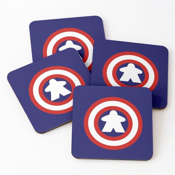 Captain Meeple Coasters (Set of 4)
