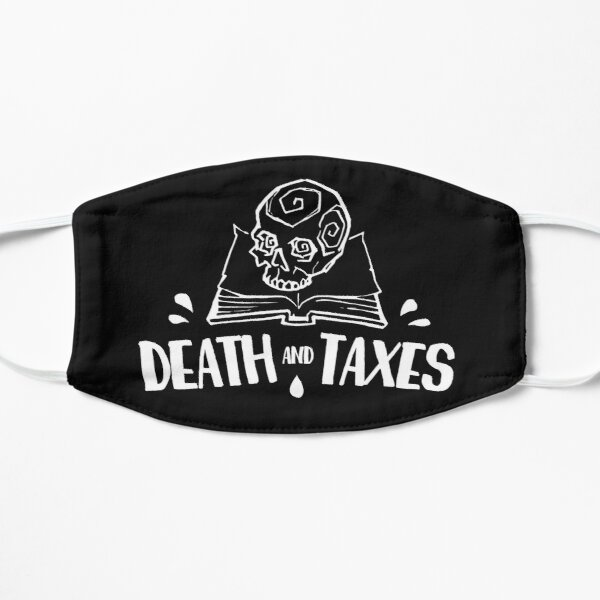Death and Taxes, Simplistic Logo in White Flat Mask