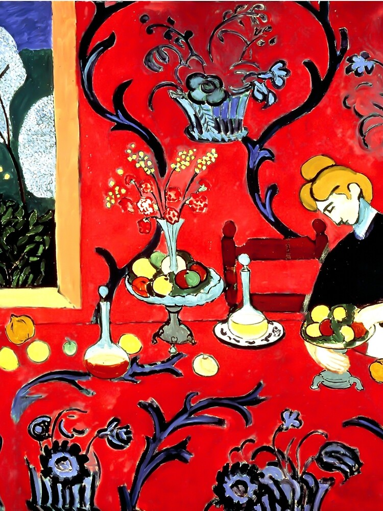 Henri Matisse, The Dessert, Harmony in Red (Red Room), 1908 Artwork by clothorama