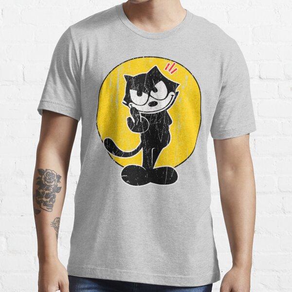 Felix die Katzen-Mittelfinger-Weinlese Essential T-Shirt