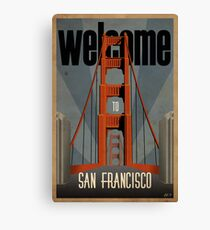 San Francisco vintage poster Canvas Print
