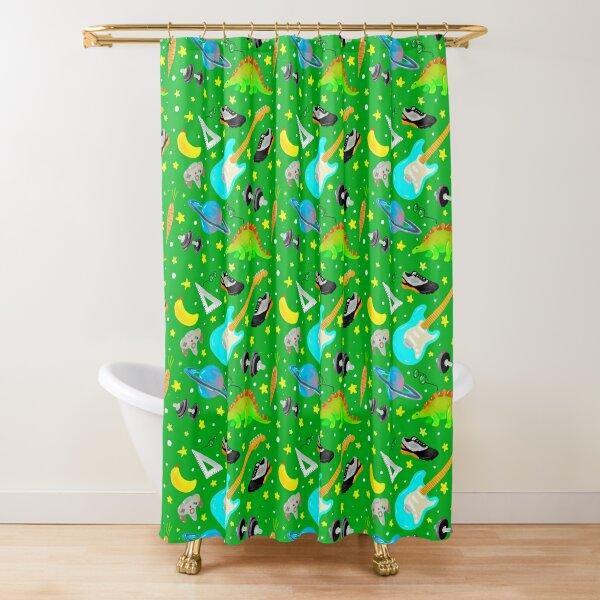 Ekka (Dark Pastel Green) Shower Curtain