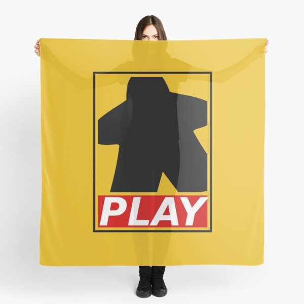 Obey and play board games with meeples ! Scarf