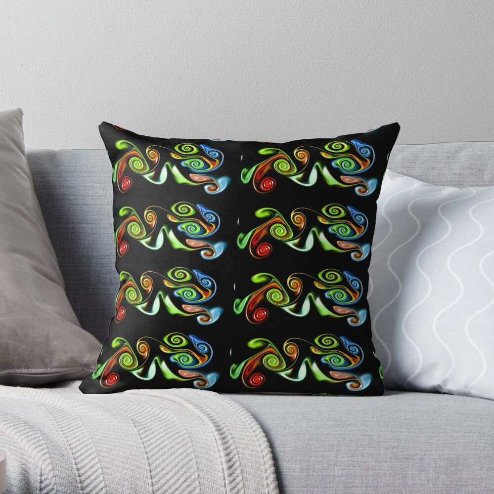 Abstract decorative patterns design Throw Pillow