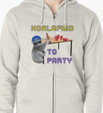 Koalafied to Party Zipped Hoodie