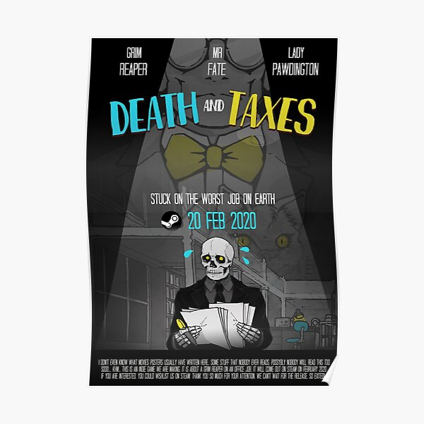 Death and Taxes Movie Poster Poster