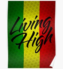 Living High Typography (Dark) Poster