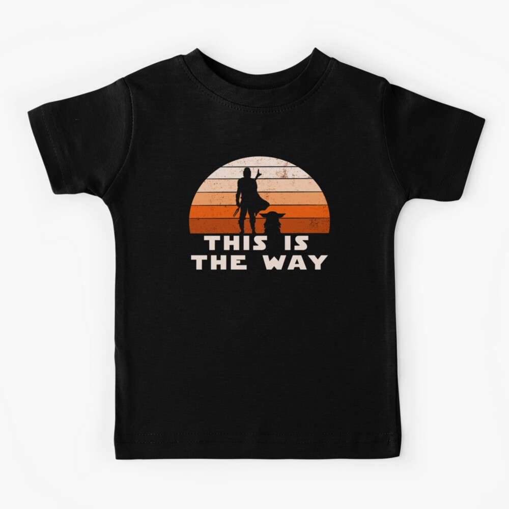 Mando Retro This is The Way and the Baby Sunset  Kids T-Shirt