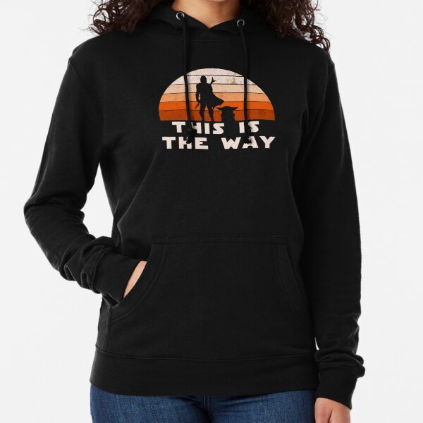 Mando Retro This is The Way and the Baby Sunset  Lightweight Hoodie