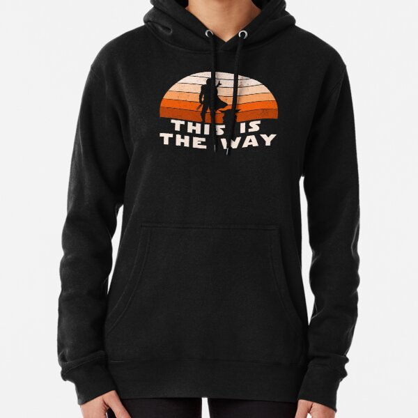 Mando Retro This is The Way and the Baby Sunset  Pullover Hoodie