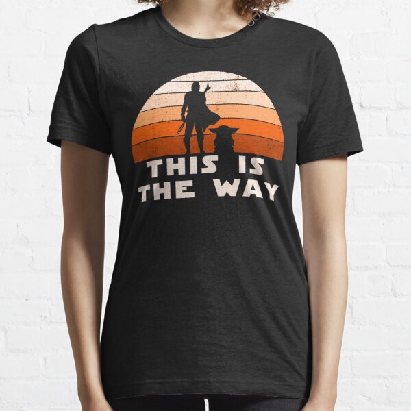 Mando Retro This is The Way and the Baby Sunset  Essential T-Shirt
