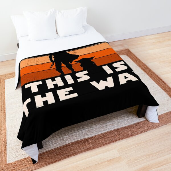 Mando Retro This is The Way and the Baby Sunset  Comforter