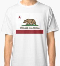Camiseta clásica Bandera de la República de Oakland California