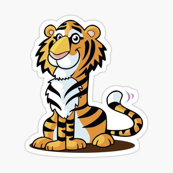 Cute Tiger Cartoon Animal Sticker