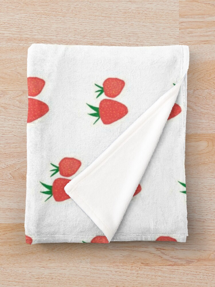 Alternate view of Strawberry Collection Throw Blanket