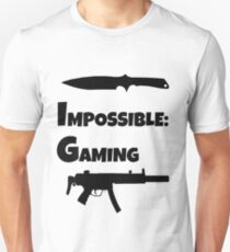 Impossible Gaming-BLACK FONT T-Shirt