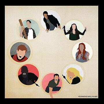 Teen Wolf Pack Graphic (Black Cases) by twerewolfitude