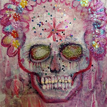 Pink Sugar Sparkle Scull by JulianaLachance
