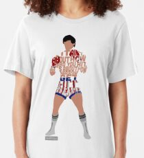 Rocky Balboa From Rocky Typography Quote Design Slim Fit T-Shirt
