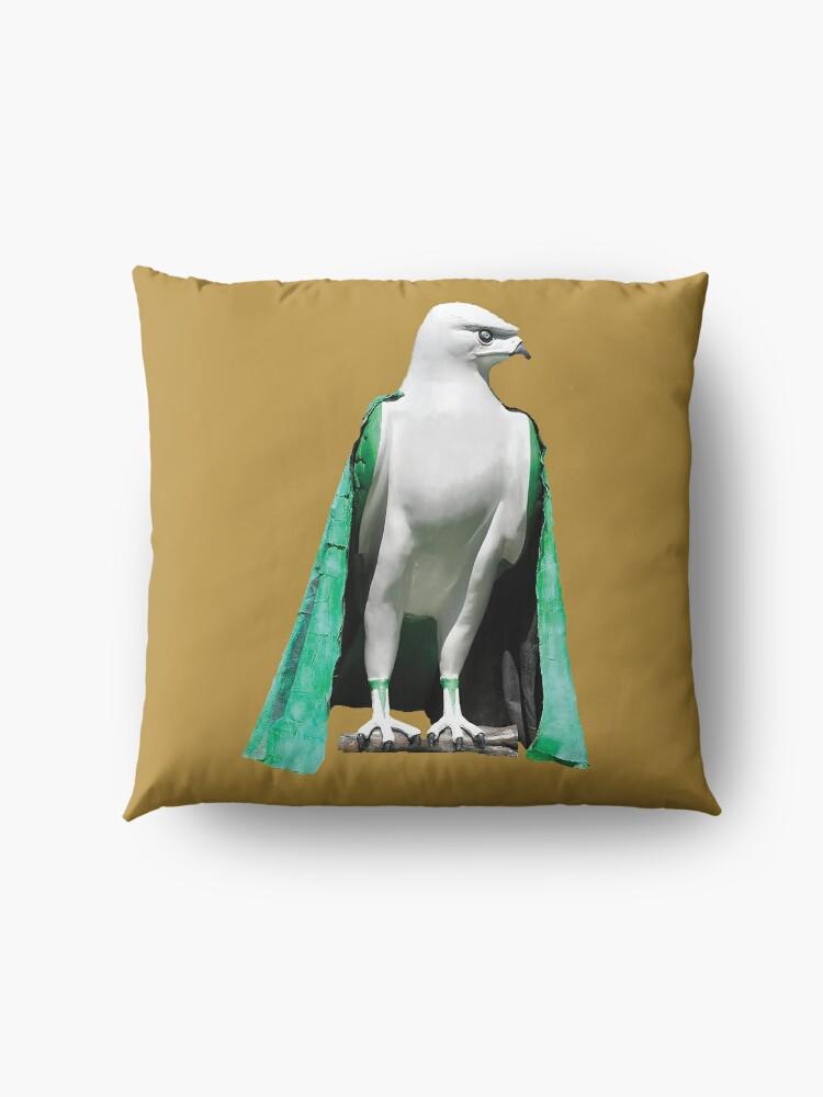Alternate view of bird of prey Floor Pillow