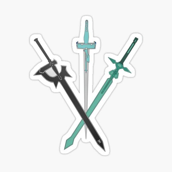 Sword Kirito Asuna Leafa Sinon Sword Art Online Sticker
