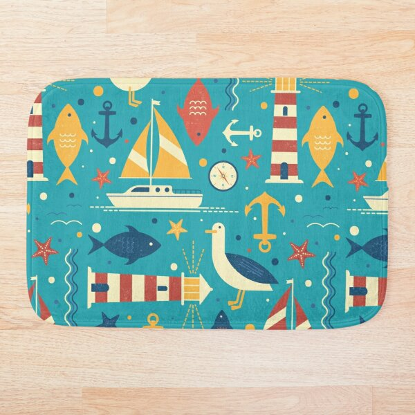 All At Sea Bath Mat