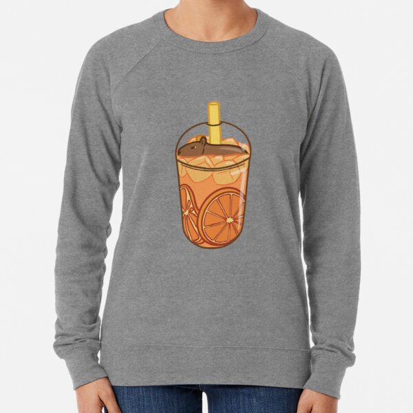 Capybara Citrus Tea Lightweight Sweatshirt