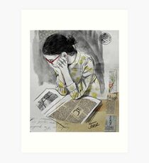 the reader Art Print