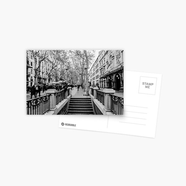 Streets of Barcelona - La rambla  Postcard