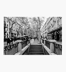 Lámina fotográfica Streets of Barcelona - La rambla