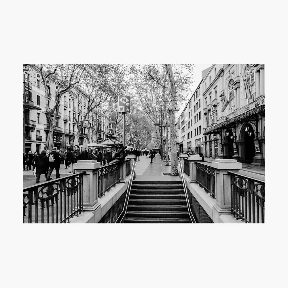 Streets of Barcelona - La rambla  Lámina fotográfica