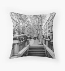 Streets of Barcelona - La rambla  Throw Pillow