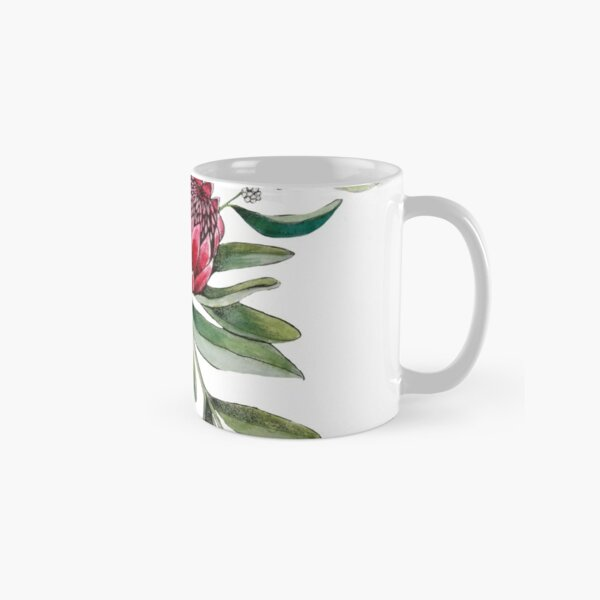 Protea flower Watercolor on white Classic Mug