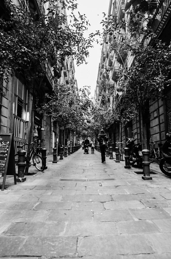 Streets of Barcelona - Gothic Quarter by Andrea Mazzocchetti